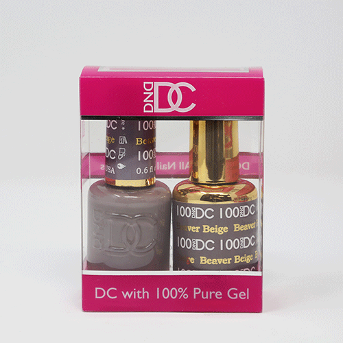 DND DC DUO SOAK OFF GEL AND LACQUER | 100  Beaver Beige |