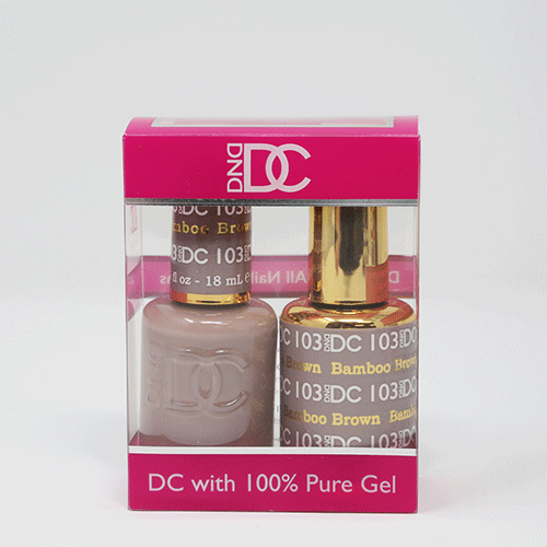 DND DC DUO SOAK OFF GEL AND LACQUER | 103 Bamboo Brown |