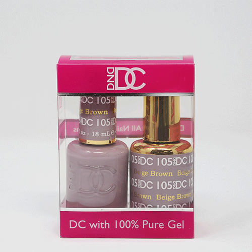 DND DC DUO SOAK OFF GEL AND LACQUER | 105 Beige Brown |