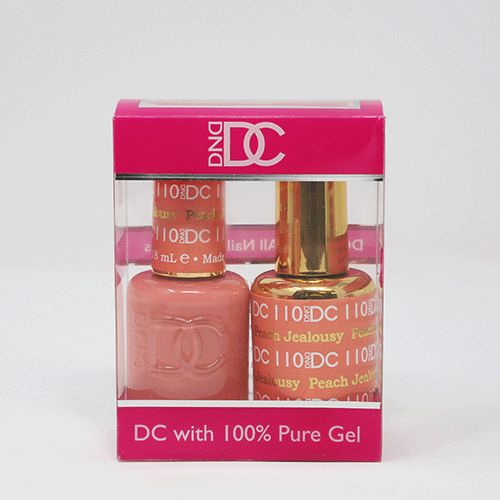 DND DC DUO SOAK OFF GEL AND LACQUER | 110 Peach Jealousy |