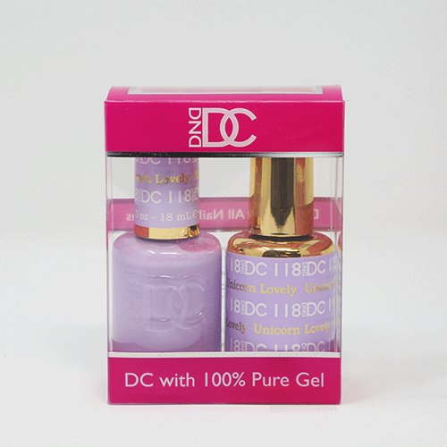 DND DC DUO SOAK OFF GEL AND LACQUER | 118 Unicorn Lovely |