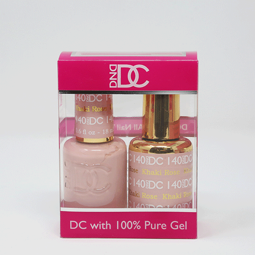 DND DC DUO SOAK OFF GEL AND LACQUER | 140 Khaki Rose |
