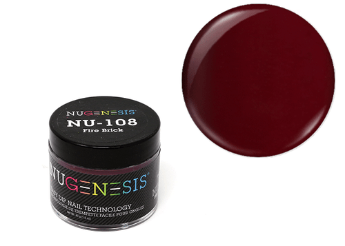 Nugenesis Easy Nail Dip Classic Collection | NU 108 Fire Brick |