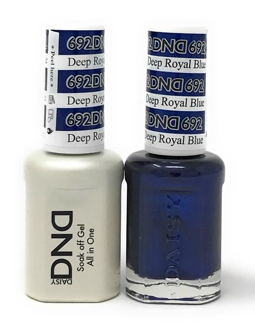 DND SOAK OFF GEL POLISH DUO DIVA COLLECTION | DEEP ROYAL BLUE, 692 |