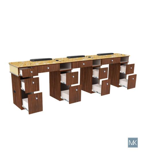 MANICURE STATION | VERONA II - TRIPLE TABLE