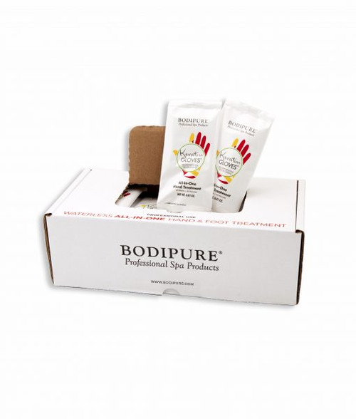 BODIPURE KERATIN GLOVES | ALL-IN-ONE HAND-TREATMENT | PACK OF 4 PAIRS