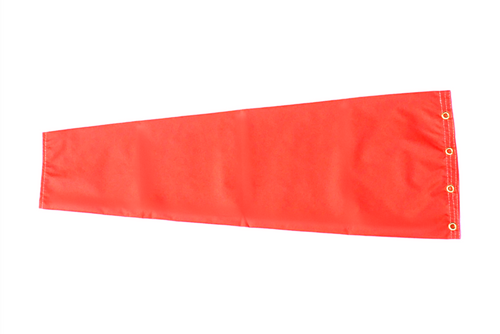 """12"""" diameter x 48"""" long nylon windsock for commercial, industrial and aviation industries."""