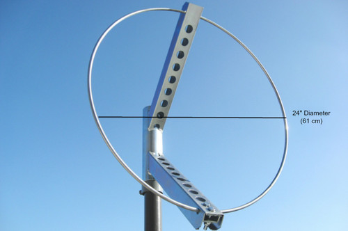 "24"" Diameter Windsock Frame, Zinc Plated Steel"