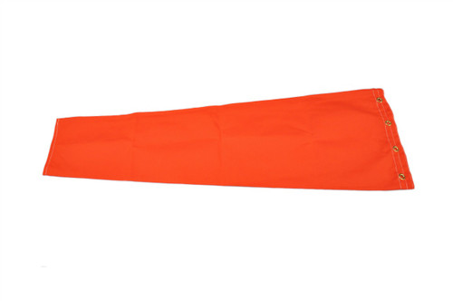"Heavy Duty 6"" diameter  x 24"" long Cotton Duck (Canvas) windsock for commercial, industrial and aviation industries. WC6D"