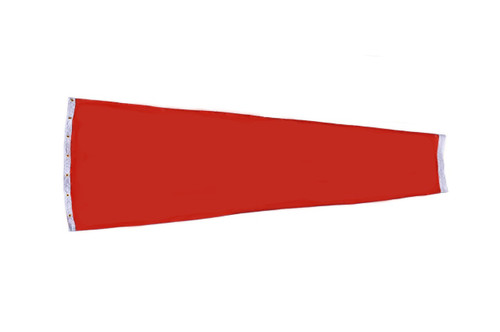 """Heavy Duty 18"""" x 48"""" Cotton Duck (Canvas) windsock for commercial, industrial and aviation industries."""