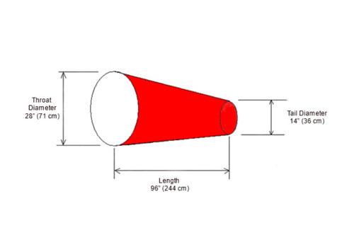 "28"" Diameter x 96"" Long Canvas Replacement Windsock"