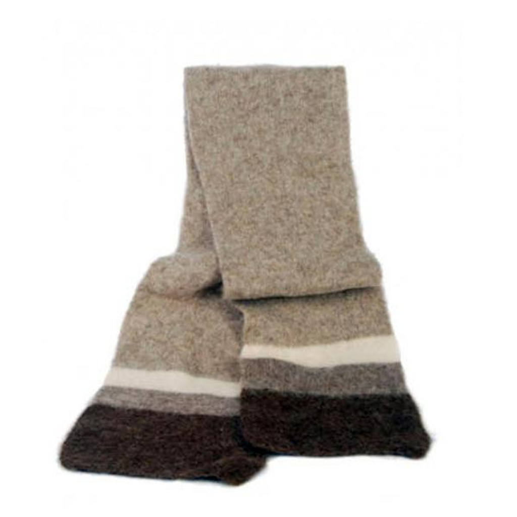 Icelandic Wool Unisex Scarf (Light Brown) by Freyja