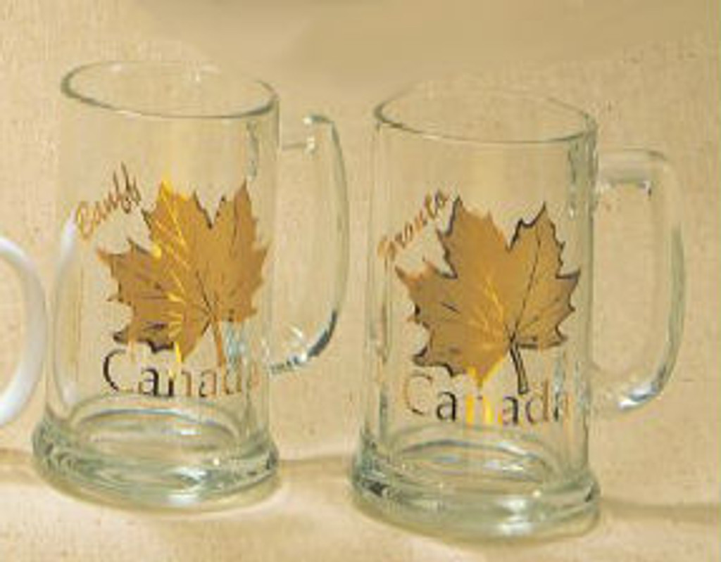 Canada True Canada Stein - Clear & Gold