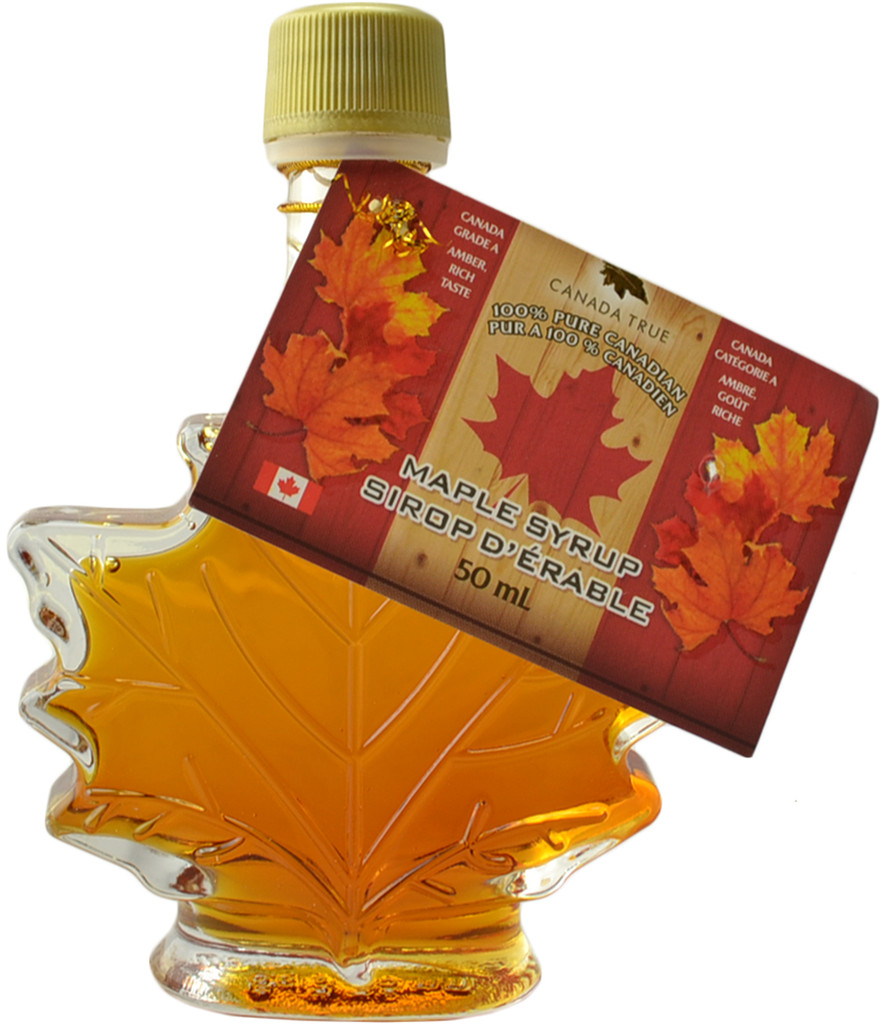 Canada True Maple Syrup - Maple Leaf Bottle (3 Pack of 50 mL)