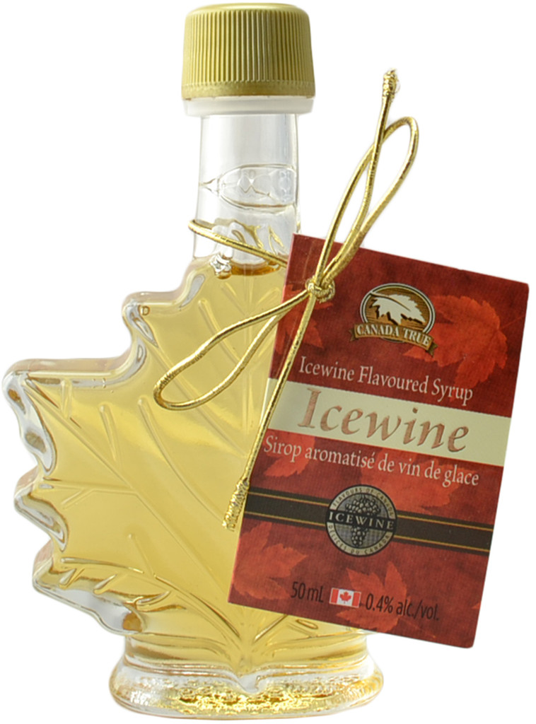 Canada True Icewine Syrup Maple Leaf Bottle (3 Pack of 50 mL)