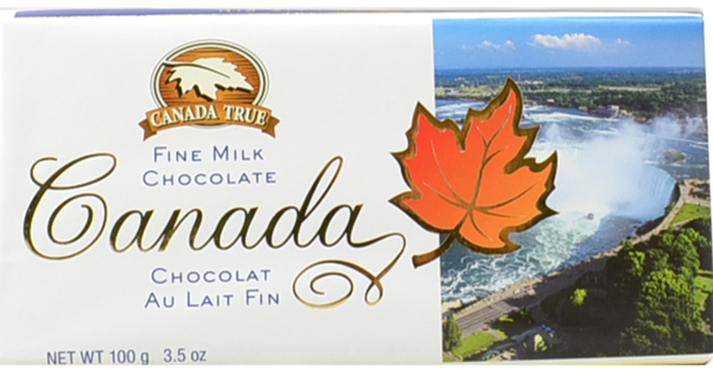 Canada True Scenic Milk Chocolate Bar - Niagara Falls (3 Pack of 100 g)