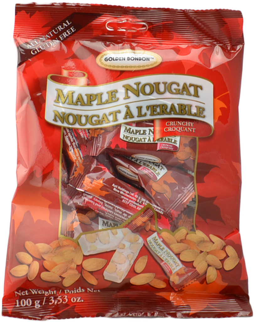Canada True Maple Nougat - Crunchy (3 Pack of 100 g)
