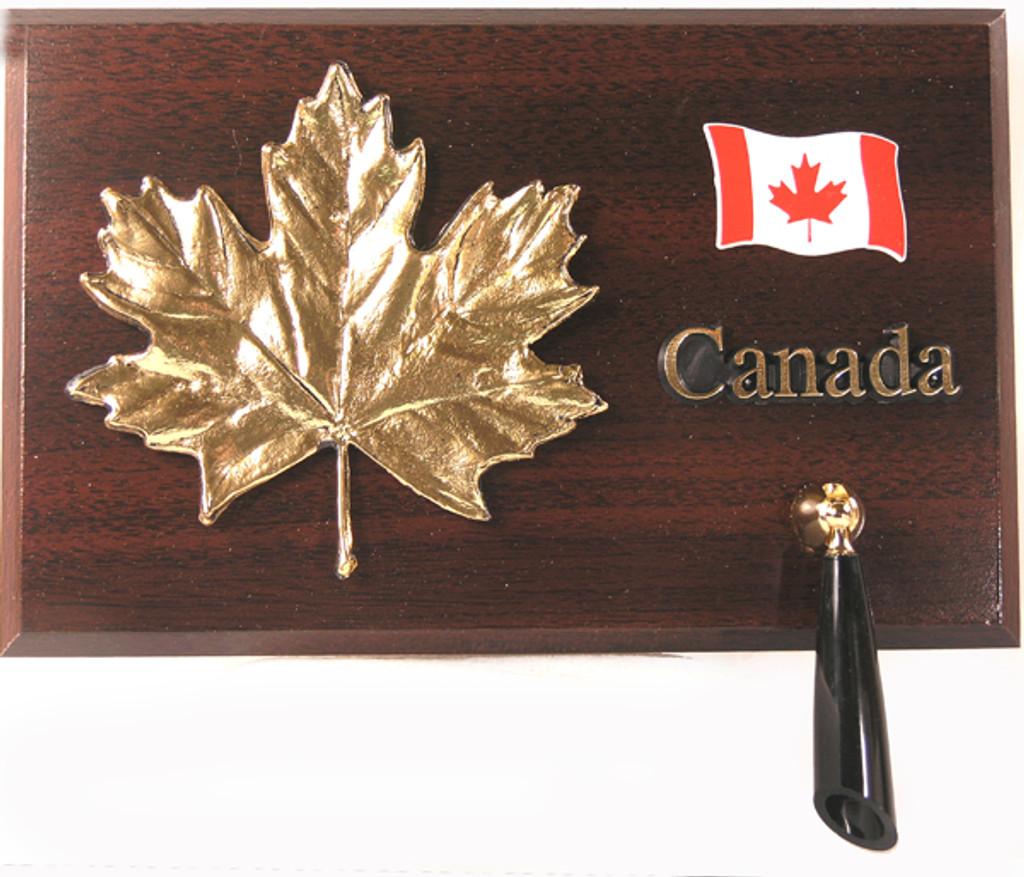 AFG Pen Set Plaque - Canada, Maple Leaf & Flag