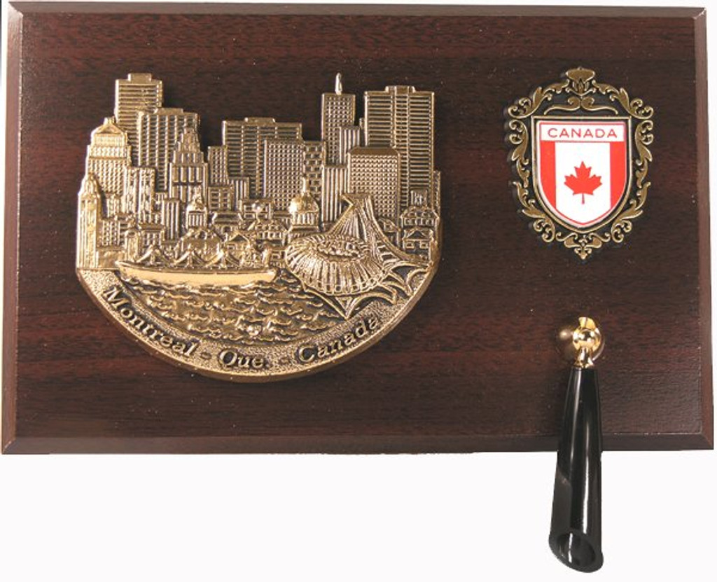 AFG Pen Set Plaque - Downtown Skyline, Montreal, Quebec, Canada