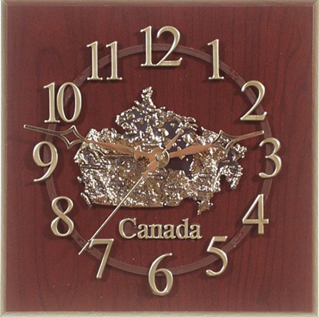 AFG Wall Clock - Map Of Canada