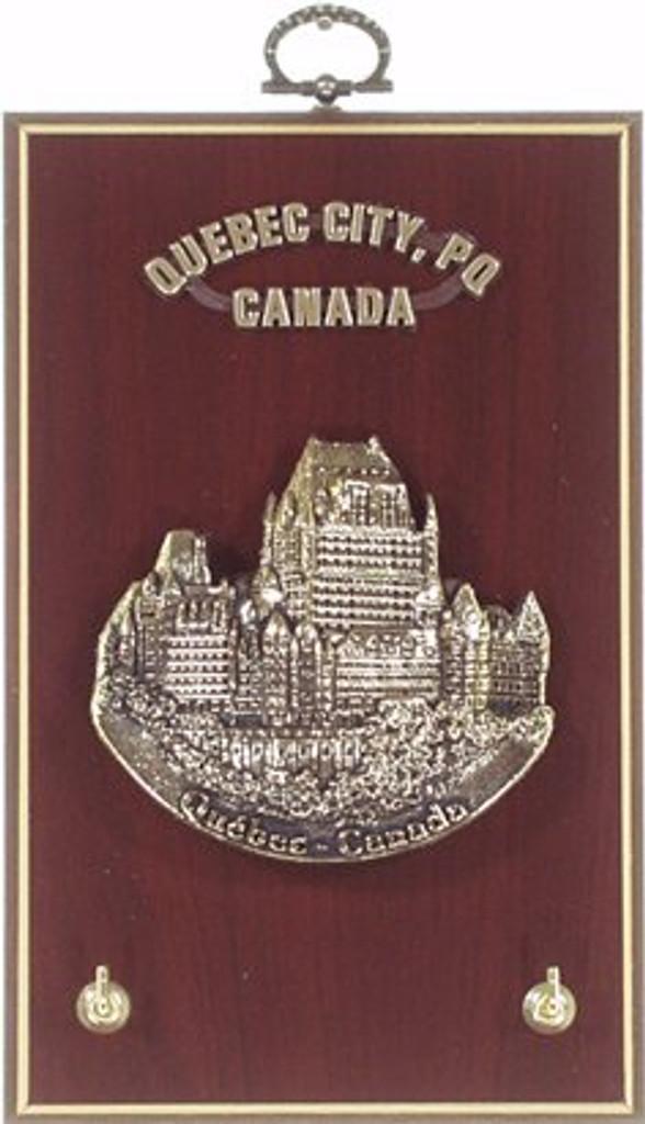 AFG Key Hook Plaque - Downtown Skyline, Quebec, Canada