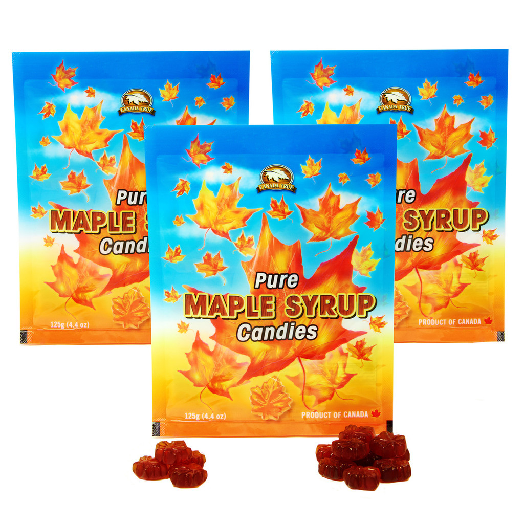 Pure Maple Syrup Candies (3 Pack) by Canada True