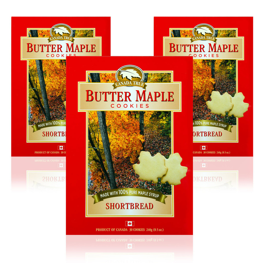 Cookies Butter Maple Shortbread (3 Pack) by Canada True