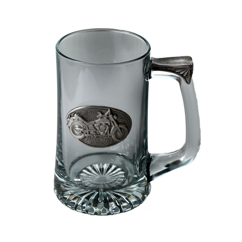 Motorcycle Tankard by Pewterglass