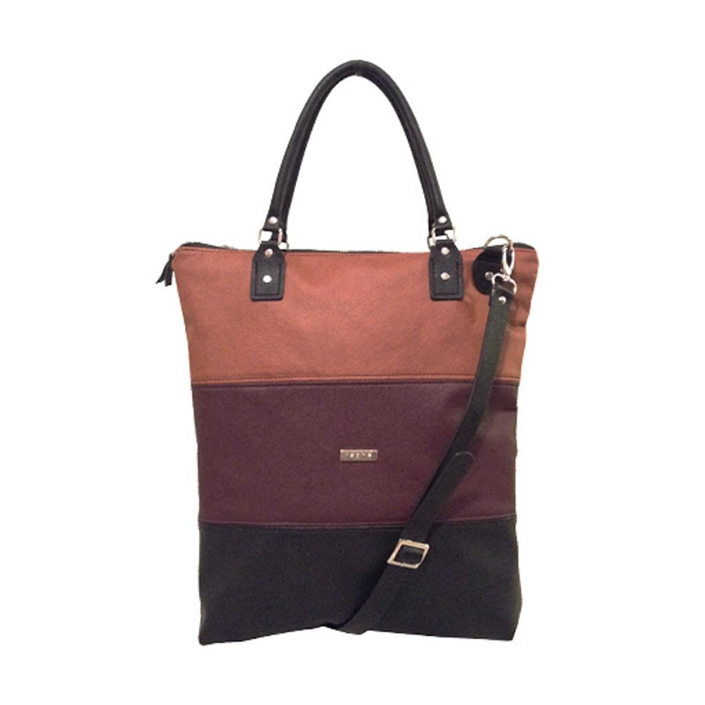 Chloe Cross Body Tote Bag (Cognac) by Taska