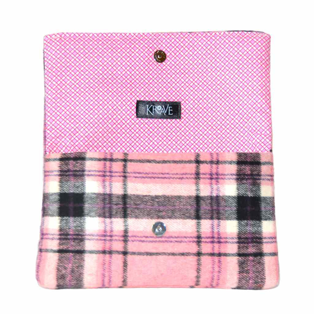 Pretty In Pink Plaid Clutch by Krave
