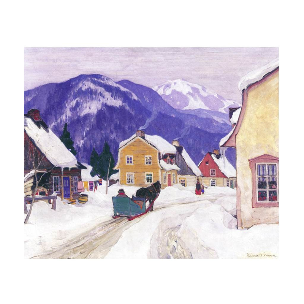 Laurentian Village (Group Of Seven) by Clarence Gagnon