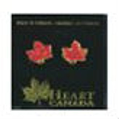 Canada True Enamelled Maple Leaf Earrings (Single Red Leaf Earrings - Small)