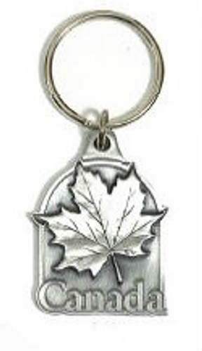 Canada True Pewter 3D Key Ring - Canada Maple Leaf