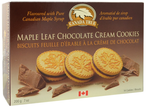Canada True Chocolate Cream Maple Cookies (3 Pack of 200 g)