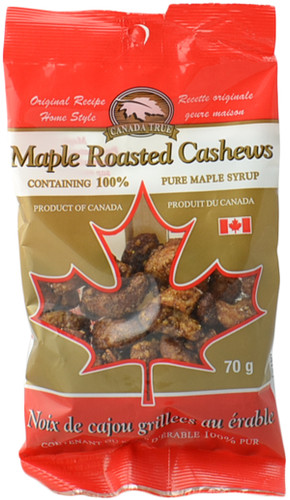 Canada True Maple Cashews (3 Pack of 70 g)