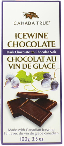 Canada True Icewine Dark Choc Bar - Box (3 Pack of 100 g)