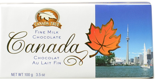 Canada True Scenic Milk Chocolate Bar - Toronto (3 Pack of 100 g)