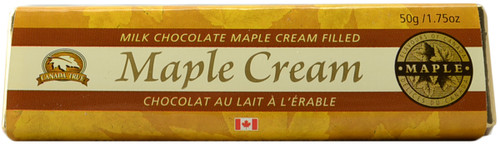 Canada True Maple Cream Chocolate Bar (3 Pack of 50 g)