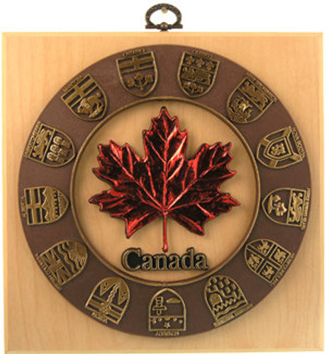 AFG Plaque - Canada, Maple Leaf & Provincial Shields