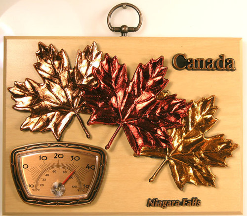 AFG Thermometer Plaque - Niagara Falls, Canada & Maple Leaves
