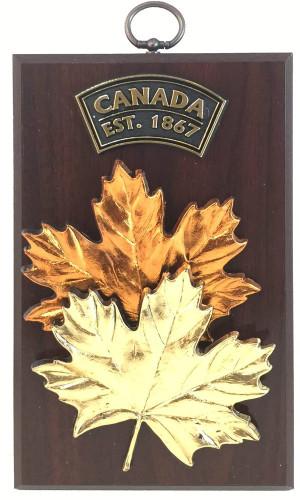 AFG Plaque - Double Maple Leaf, Canada, Est 1867