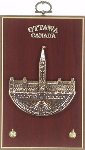 Key Hook Plaque - Parliament, Ottawa, Canada by AFG