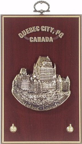 AFG Key Hook Plaque - Downtown Skyline, Quebec, Canada