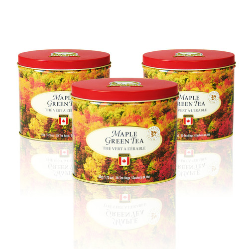 Tea Maple Green Tin (3 Pack) by Canada True