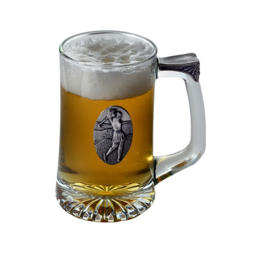 Female Golfer Tankard by Pewterglass