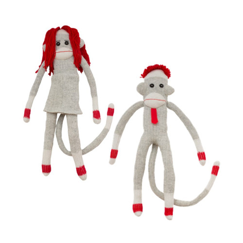Sock Monkey (Mamma / Pappa) by Pook - Ships in Canada Only