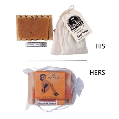 His and Hers Soap Set by Aide Bodycare