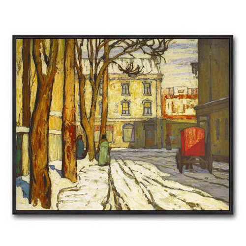 Toronto Street Winter Morning (Group Of Seven) by Lawren Harris
