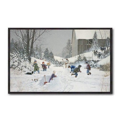 Snowball Fight by D.L. Laird