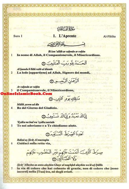 Quran In Italian Language ( Translation in Italian , Transliteration In English) IL Sacro Corano e la traduzione in lingua italiana del senso dei suoi versetti